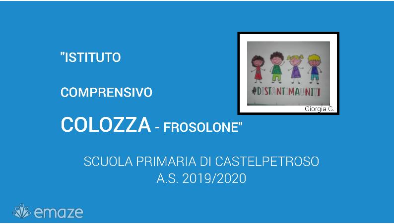 "SCUOLA PRIMARIA CASTELPETROSO (classi IV A – IV B):""Mostra sugli artisti di classe"""