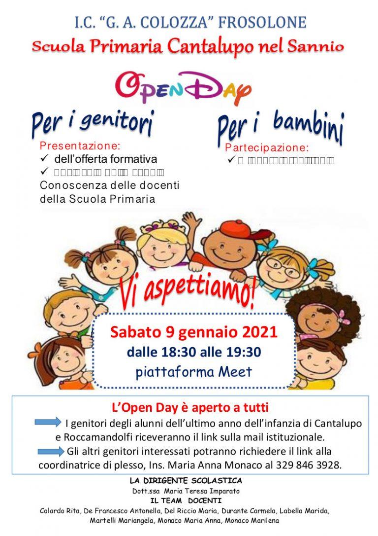Open Day: Scuola Primaria Cantalupo nel Sannio