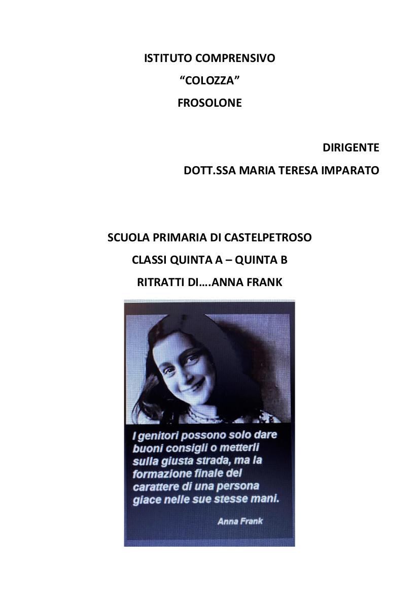 Ritratti di… Anna Frank